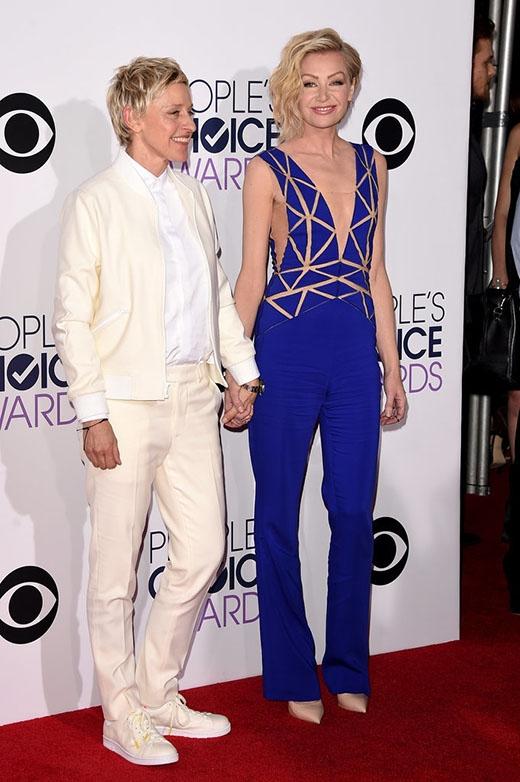 Mc nổi tiếng thế giớiEllen DeGeneresđến cùng vợPortia de Rossi