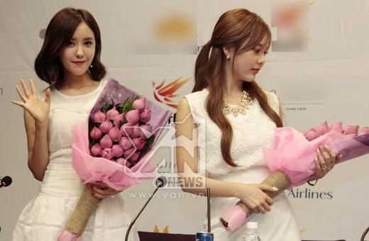 Cô gái xinh xắn và rạng rỡ nhất trong nhóm có lẽ chính là Hyo Min