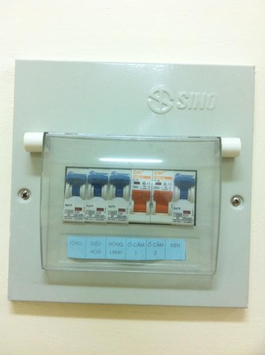 Thiết bị điện được thiết kế an toàn.