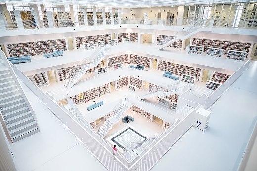 Thư viện thành phố Stuttgart, Đức