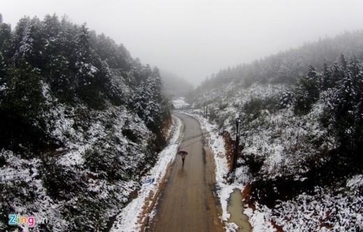 Tuyết đã rơi tại Sa Pa trong đợt không khí lạnh lần này - ảnh: Hoàng Hà