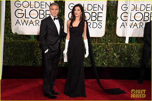 George Clooney đến cùng vợ Amal