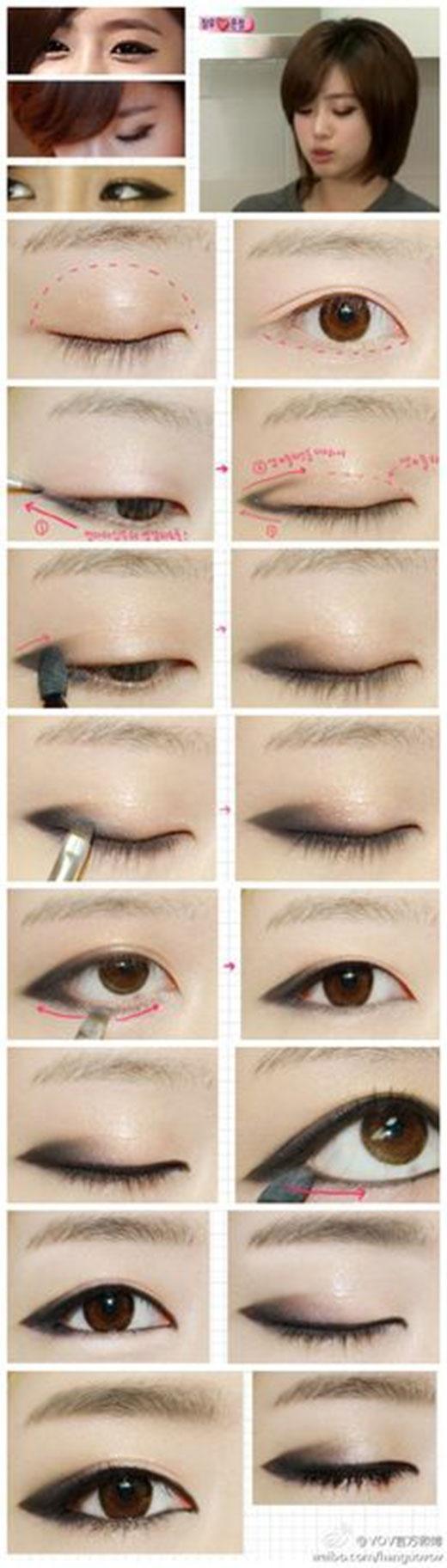 Tông màu nâu ngọc trai đi cùng xám khói chính là hai sắc màu mắt thường được sử dụng