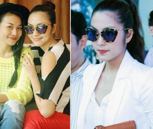 Chiếc mắt kinh Miu cũng được Hà Tăng sử dụng nhiều lần vì trông nó khá thời trang và độc đáo.