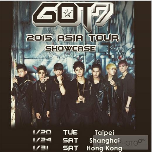 Jackson hào hứng khoe lịch trình showcase của GOT7 trong những ngày cuối tháng một. Anh chia sẻ: 'Chúng ta có hẹn không nào?'