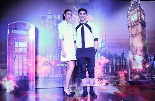 Hai tân Quán quân Vietnam's Next Top Model 2014: Nguyễn Oanh và Quang Hùng.