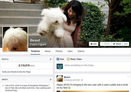 Trang Facebook cá nhân của Beast với hơn hai triệu người theo dõi.