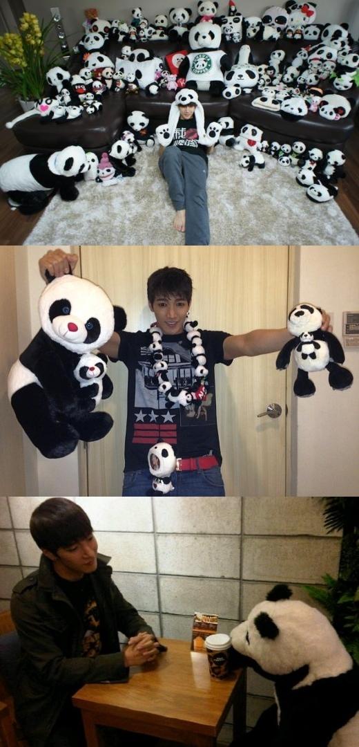 Không chỉ một màJun K (2PM)sở hữu cả một đại gia đình gấu trúc, đủ thấy anh chàng mê chúng cỡ nào.