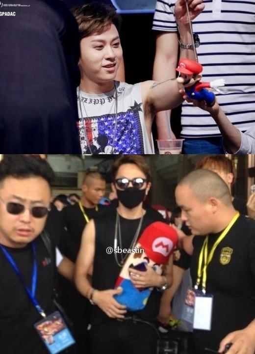 RapperJun Hyungcá tính củaBeastthì đi đến đâu cũng không quên chàng Mario của mình.