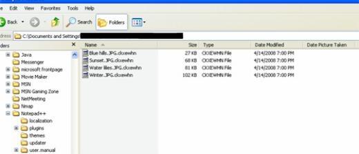 Sau khi thâm nhập, mã độc sẽ mã hóa các file. Trong ảnh là những file đã bị mã hóa.