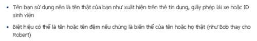 Chính sách về tên thật bằng tiếng Việt