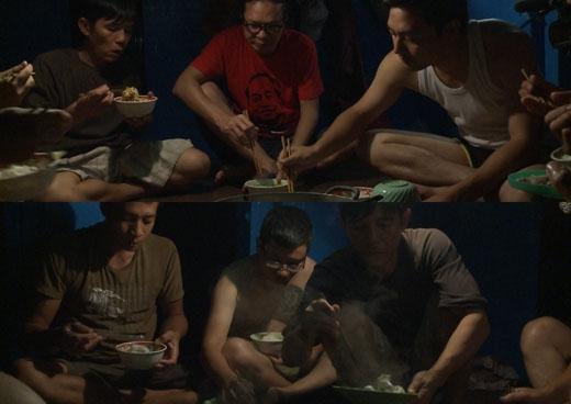 Ba ông bố thưởng thức hải sản nướng lúc nửa đêm sau khi kéo lưới. - Tin sao Viet - Tin tuc sao Viet - Scandal sao Viet - Tin tuc cua Sao - Tin cua Sao