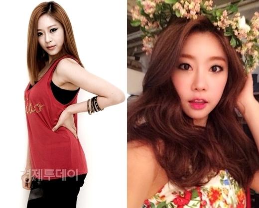 Cùng sinh năm 1986 nhưngMisung (Sunny Hill)lại rất trưởng thành và chững chạc trong khiSojin (Girl's Day)nhí nhảnh, đáng yêu.