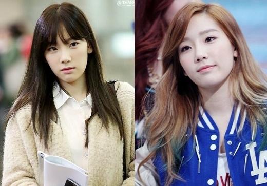 """Nhiều lầnTaeyeon (SNSD)khiến các fan """"hoang mang"""" nghi ngờ rằng có thật là năm nay cô nàng đã 26 tuổi rồi không? Mái ngang giúp trưởng nhómSNSDtrông trẻ trung và xinh xắn như một học sinh trung học."""