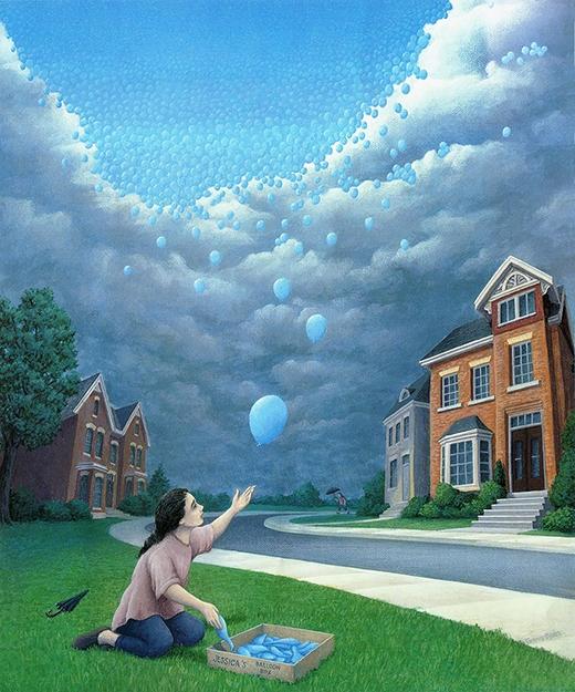 Nguồn gốc của bầu trời xanh là... những quả bóng xanh