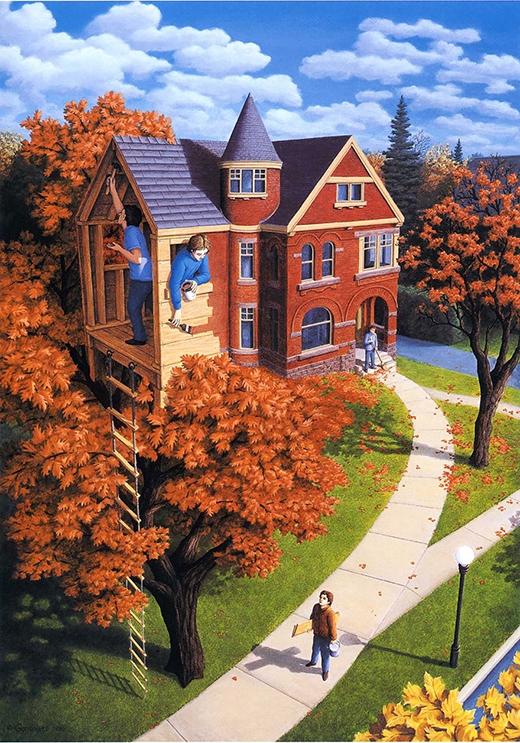 Theo bạn thì ngôi nhà này ở dưới đất hay trên cây?