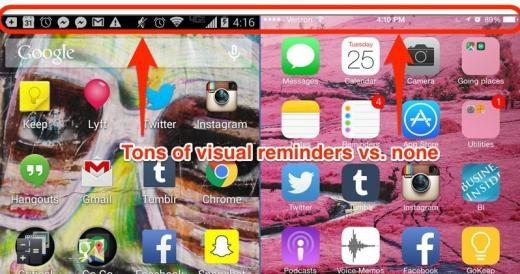 Tin thông báo của Android luôn hiện ra trên cùng màn hình cho phép dễ dàng kiểm tra lại.