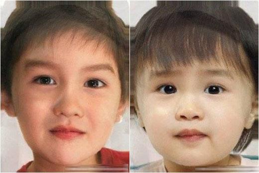 Ở kết quả này, bé trai hoặc bé gái có đôi mắt và một số chi tiết trên mặt lại giống nhiều với bố Louis Nguyễn hơn. - Tin sao Viet - Tin tuc sao Viet - Scandal sao Viet - Tin tuc cua Sao - Tin cua Sao