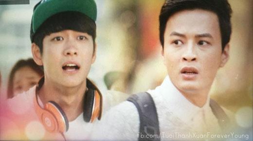 Jun Su và Khánh 'hớt hải' khi không thấy Linh đâu.