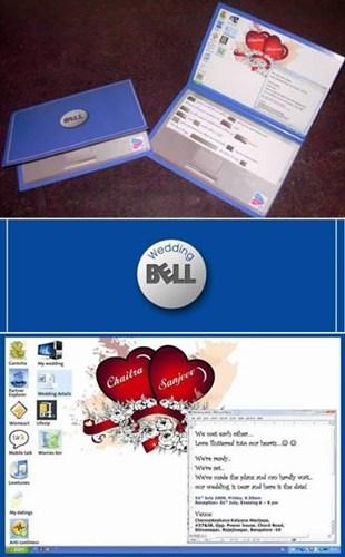 Thiệp cưới phong cách máy laptop