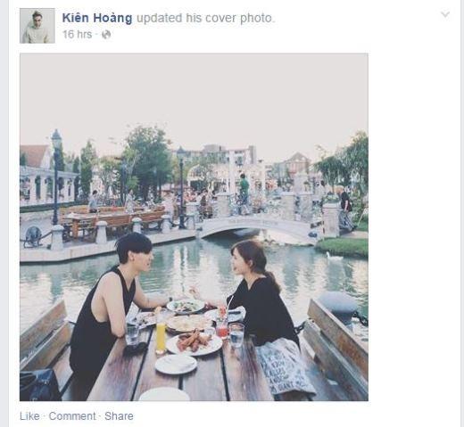 Một hot teen Hà Nội khác là Kiên Hoàng lại hào hứng chia sẻ về chuyến đi du lịch cùng với bạn gái trong khung cảnh hết sức lãng mạn.
