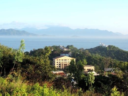 Viện Hải dương học nhìn từ trên cao