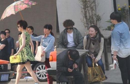 Trước đó trên phim trường Hot Mom, Tôn Lệ cũng từng được cư xử như nữ hoàng