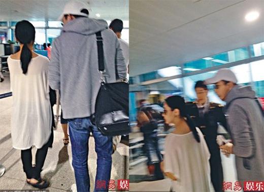 Chung Hân Đồng và bạn trai cũ tại sân bay Tân Sơn Nhất