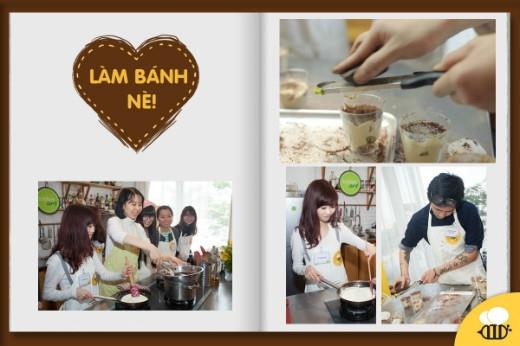 Mọi người cùng nhau làm Chocolate và Tiramisu nè!