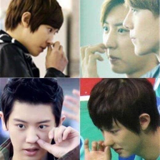 Chanyeol rất thích ngoáy mũi và anh chàng thường bị fan bắt gặp những khoảnh khắc dễ thương như vậy