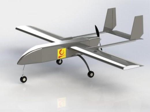Mô hình máy bay không người lái của nhóm sinh viên ĐH Công nghiệp Hà Nội.