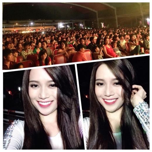 Tối ngày mùng 2 cô đã có đêm diễn khá thành công cùng các khán giả tại Tây Ninh.