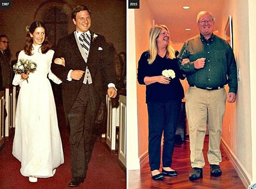 'Chúng tôi đã bước xuống lối vào lễ đường sớm hơn rất nhiều nếu tôi biết bao nhiêu niềm vui, hạnh phúc mà chúng tôi sẻ chia với nhau trong cuộc hôn nhân gần 30 năm. Khi mọi người hỏi chúng tôi đã kết hôn bao lâu, câu trả lời là: 'Không đủ dài', đôi vợ chồng nói.