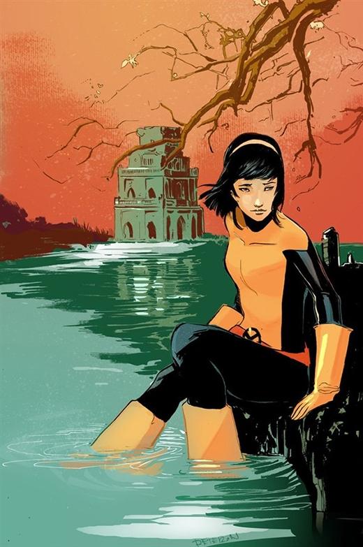 Karma (tên thật Xi'an Coy Manh) là dị nhân có cha là người Việt Nam. Cô sở hữu năng lực xâm chiếm tâm trí của người khác và phát hiện ra sức mạnh tiềm ẩn lúc còn nhỏ khi chứng kiến anh trai mình bị một tên lính đe dọa. Sau đó, Xi'an đã điều khiển tâm trí và làm cho hắn tự kết liễu bản thân, cảnh tượng này khiến cô bị ám ảnh trong suốt quãng thời niên thiếu.