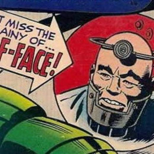Half-Face (tên thật Trung Tuan) là nhà khoa học đã chế tạo ra áo giáp cho Titanium Man – kẻ được dùng để chống lại Iron Man. Sức mạnh của Trung Tuan nằm ở bộ óc siêu phàm giúp hắn có thể phát minh ra hàng trăm vũ khí tối tân phục vụ mục đích chiến tranh. Ngoài đời thì hắn vẫn là một người đàn ông trung niên bình thường và rất khó bị phát hiện ra năng lực bên trong.