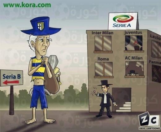 Parma nhiều khả năng sẽ xuống hạng mùa này. Sau 23 vòng đấu, đội quân của HLV Donadoni đứng bét bảng xếp hạng Serie A với vỏn vẹn 10 điểm, kém nhóm trụ hạng 13 điểm.