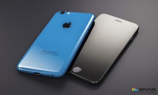 Thiết bị có màn hình 4,7 inch, được đặt cạnh iPhone 6 để so sánh kích thước. Ngoài ra nó cũng có những đường cong và thiết kế như iPhone 6 nhưng nhiều màu sắc hơn. Nhà thiết kế cũng thay đổi màu phím cảm ứng Touch ID để hợp với màu sắc của thiết bị.