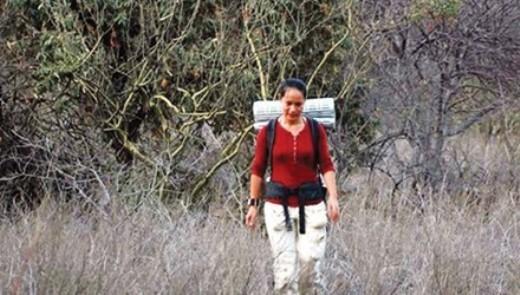 MZung trước khi leo núi đá Batan Grande - Peru.