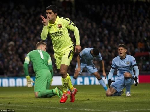 Với cú đúp vào lưới Man xanh, Suarez nâng tổng số pha lập công tại Champions League lên con số 4 cùng 1 pha kiến tạo sau 4 lần xung trận.