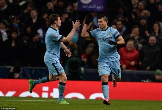 Niềm vui của chân sút người Argentina sau khi thắp lên hy vọng giành một kết quả hòa cho nhà đương kim vô địch nước Anh.