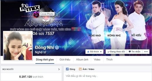 Fanpage Đông Nhi với hơn 5 triệu lượt like. - Tin sao Viet - Tin tuc sao Viet - Scandal sao Viet - Tin tuc cua Sao - Tin cua Sao