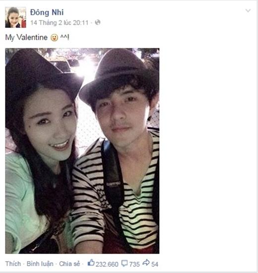 Hình ảnh hạnh phúc của cặp đôi 'Nu -Dù'cũng thường xuyên xuất hiện trên fanpage của Đông Nhi. - Tin sao Viet - Tin tuc sao Viet - Scandal sao Viet - Tin tuc cua Sao - Tin cua Sao