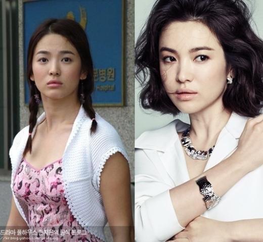 """Thời gian trôi qua càng giúp nhan sắc của kiều nữ """"không dao kéo""""Song Hye Kyothêm phần mặn mà và quyến rũ."""