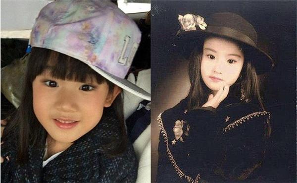 Bé gái nhà Lục Nghị và Lưu Diệc Phi thời thơ ấu