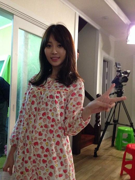 Yura và bộ đồ pajamas trái tim cực nhí nhảnh