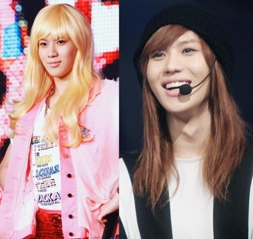 Trào lưu giả gái giúp cộng đồng fan Kpop nhận diện nét đẹp nữ tính củaTaemin, sau đó anh chàng diện nguyên mái tóc dài trong thời gian quảng báLucifer.