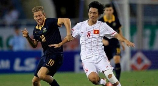 U19 Việt Namtừng đánh bại U19 Australia 1-0 tại giải U19 ĐNA 2014 được tổ chức tại Việt Nam.Ảnh:Tống Đức Thuận.