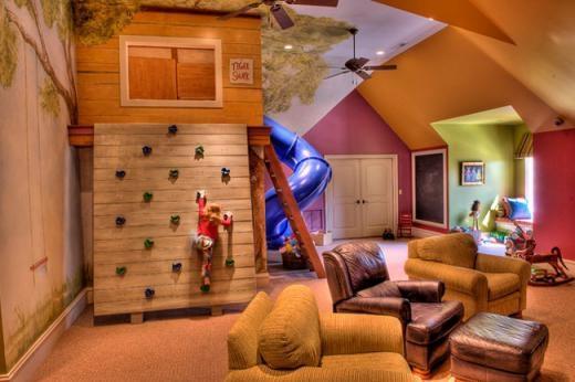 Phòng chơi trẻ em kiêm phòng khách tăng thêm thời gian chung của gia đình