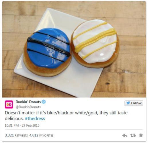 Bánh rán Dunkin' Donuts: 'Không quan trọng xanh đen hay trắng vàng, chúng đều rất hấp dẫn.'