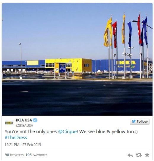 Hãng nội thất IKEA: 'Bạn không cô đơn, Cirque. Chúng tôi cũng nhìn ra màu xanh và vàng :)'
